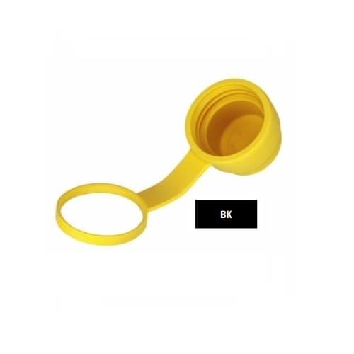 Watertight Plug Closure Cap, Black