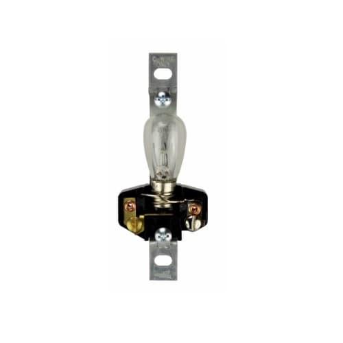 60W Recessed Pilot Light Lampholder w/ 6W Clear S-6 Bulb