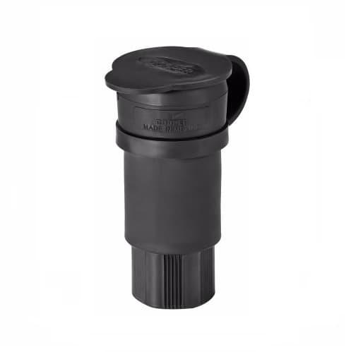 15 Amp Watertight Connector, Black