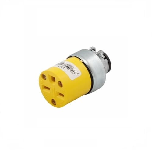 Eaton Wiring 15 Amp Armored Cable Connector, 2-Pole, NEMA 6-15R, Yellow