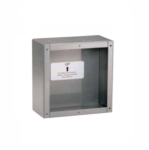 Steel Wallbox for 50/60 Amp Receptacles, Hospital Grade, Grey