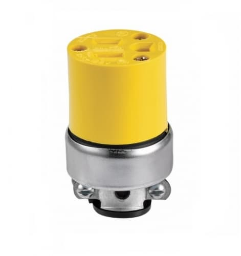 Eaton Wiring 15 Amp Connector, Armored, Vinyl, Yellow