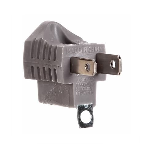 Eaton Wiring 15 Amp Grounding Adapter, Single Outlet, Grey