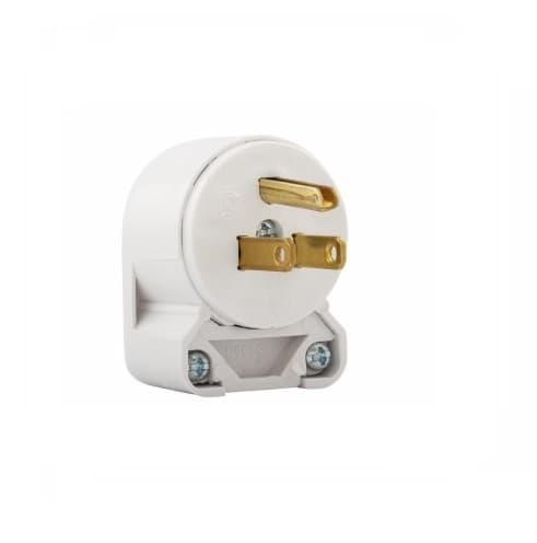 Eaton Wiring 15 Amp Electric Plug, Angled, Vinyl, White