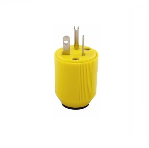 Eaton Wiring 20 Amp Grip Plug, Corrosion Resistant, Nylon, Yellow