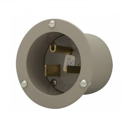 Eaton Wiring 50 Amp Flanged Inlet Connector, Grey