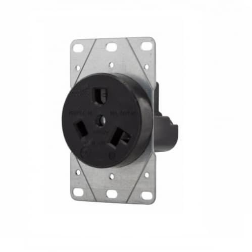 30 Amp NEMA 7-30R 277V Flush Mount Power Receptacle
