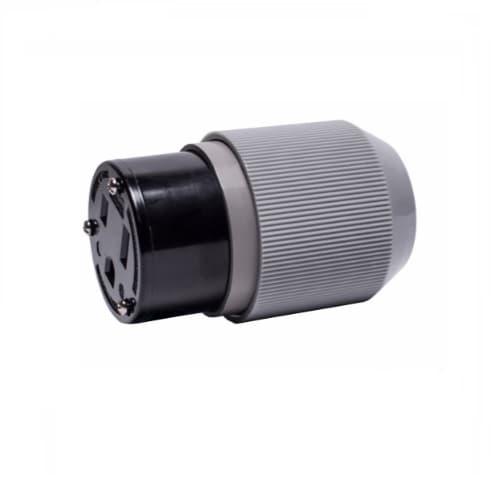 Eaton Wiring 50 Amp Connector, Auto Grip, NEMA 6-50R, Black