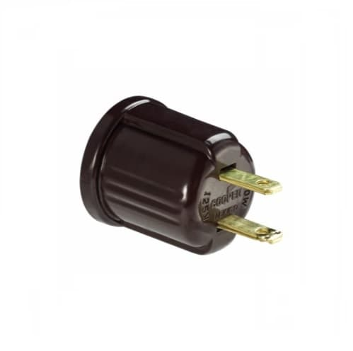 660W Outlet Adapter, Polarized, NEMA 1-15R, Brown