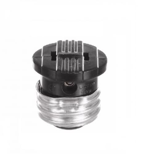 660W Polarized Medium Base Socket Adapter, NEMA 1-15R, Black