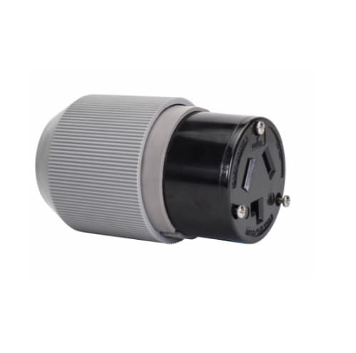 30 Amp Connector, NEMA 10-30R, Black
