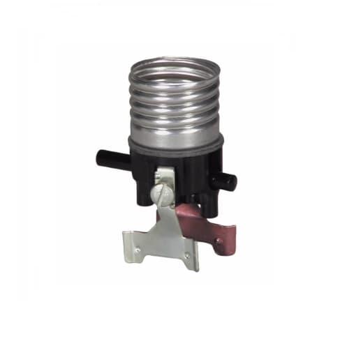 15 Amp Replacement Lamp Holder Interior, Medium Base,Push Switch
