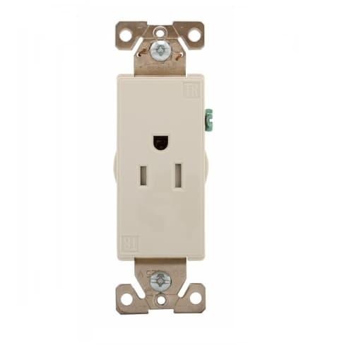 Eaton Wiring 15 Amp Aspire Single Receptacle, Tamper Resistant, White Satin