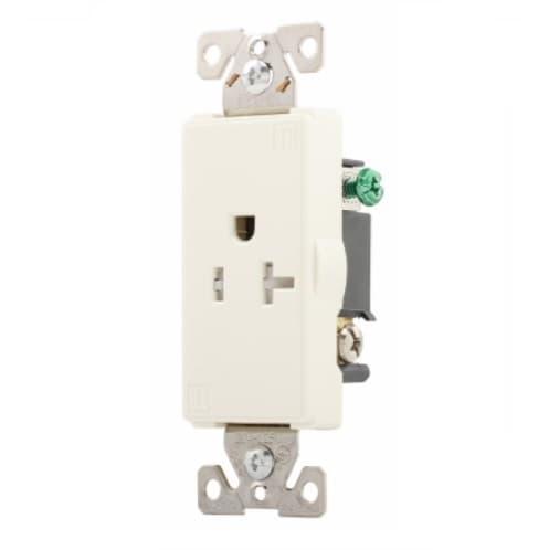 Eaton Wiring 20 Amp Aspire Single Receptacle, Tamper Resistant, Desert Sand