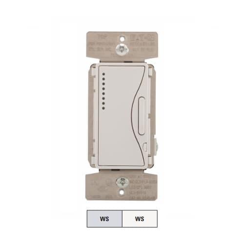 300W Smart Dimmer, Single Pole, 3-Way, 120V, White Satin