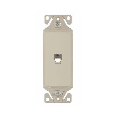 Eaton Wiring Phone Jack Insert, Single, Desert Sand