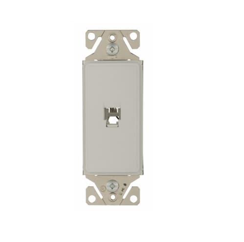 Eaton Wiring Phone Jack Insert, Single, White Satin