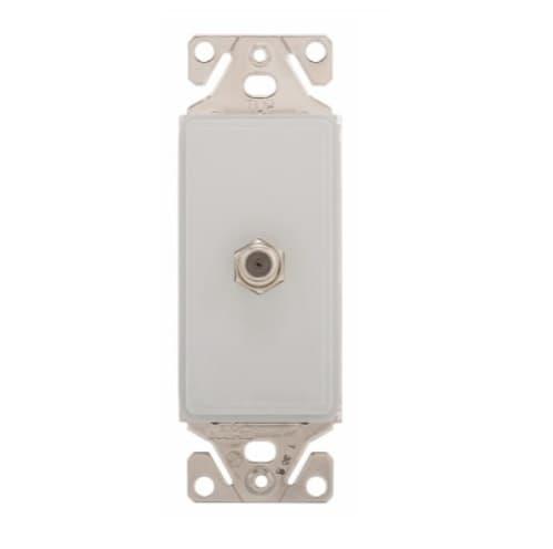 Coax Insert, Single Adapter, White Satin