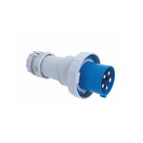 100 Amp Pin and Sleeve Plug, 2-Pole, 3-Wire, 250V, Blue