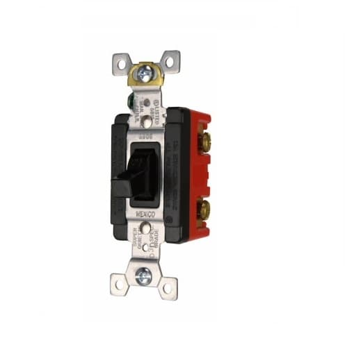 20/30 Amp Motor Control Switch, Manual, 600/250V, Black