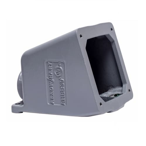 16/32 Amp Back Box for Pin & Sleeve Receptacles, Cast Aluminum