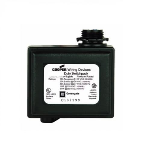 Eaton Wiring 20 Amp Switchpack, Heavy Duty, 120/277V, Black