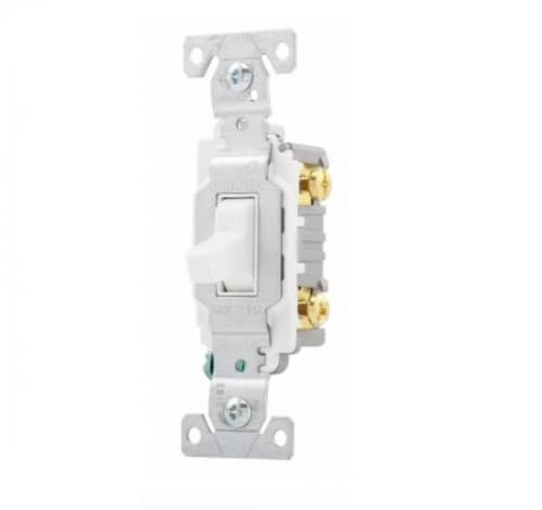 20 Amp Toggle Switch, Commercial, 120/277V, White