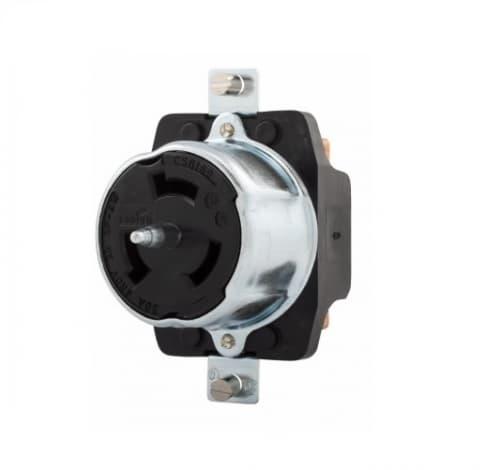 50 Amp Locking Plug, Non-NEMA, 480V, Industrial, Steel