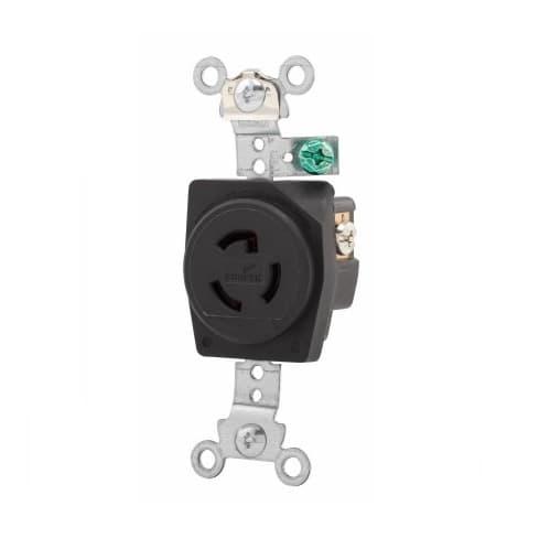 Eaton Wiring 15 Amp Locking Receptacle, NEMA L7-15, 277V, Black