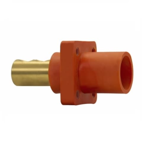 Eaton Wiring Cam-Lok J Series E1016 Double Set Screw Insulated Male Receptacle, #1/0-4/0 AWG, Green