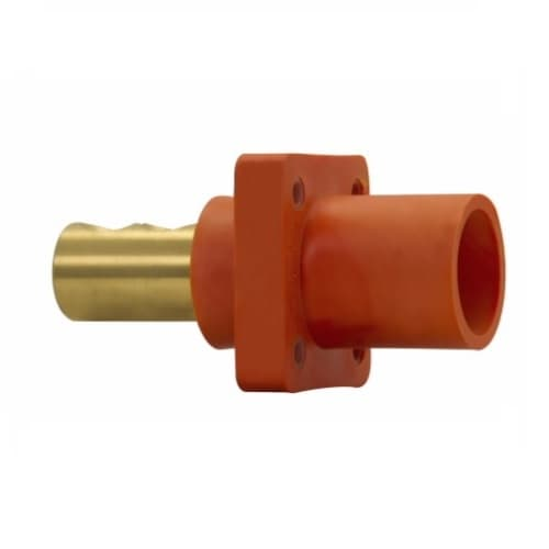 Eaton Wiring Cam-Lok J Series E1016 Double Set Screw Insulated Male Receptacle, #1/0-4/0 AWG, Brown