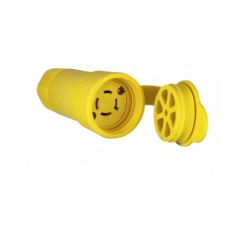 Eaton Wiring 20 Amp Locking Connector, Industrial, NEMA L16-20, 480V, Yellow