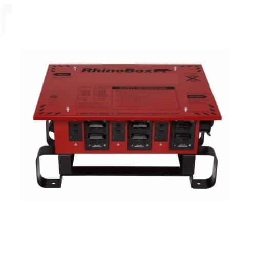 50 Amp RhinoBox Power Distribution Unit, 120V-240V, Automatic Reset, Red