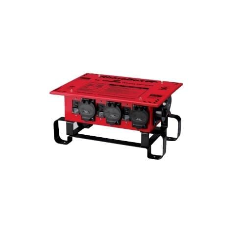 50 Amp RhinoBox Power Distribution Unit, 240V, Manual Reset