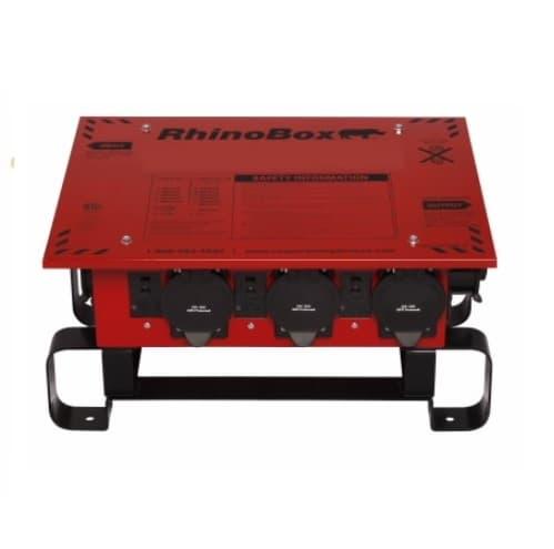 50 Amp Power Center, NEMA 3R, Weatherproof, Automatic, Red