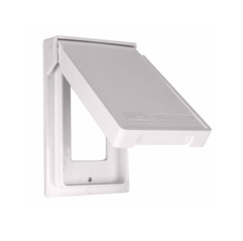 1-Gang GFCI Cover, Self-Closing, Vertical, White