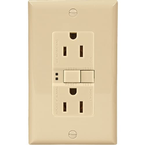 Eaton Wiring 20 Amp Duplex GFCI NAFTA-Compliant Receptacle Outlet, Ivory