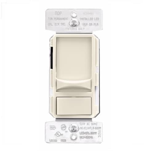600W Slide AL Series Dimmer Switch, Single-Pole, 3-Way, 120V, Light Almond