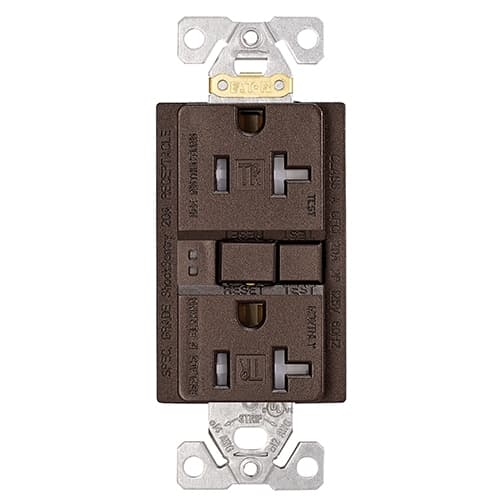 Eaton Wiring 20 Amp Tamper Resistant Duplex GFCI Receptacle Outlet, Oil Rubbed Bronze