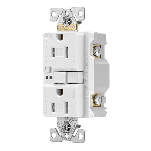 15 Amp Tamper Resistant Duplex GFCI Outlet w/ Audible Alarm, White