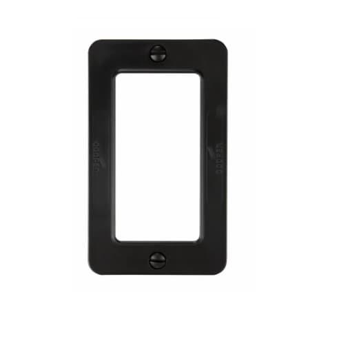 Outlet Box, Decora, Portable, Standard Size, Black