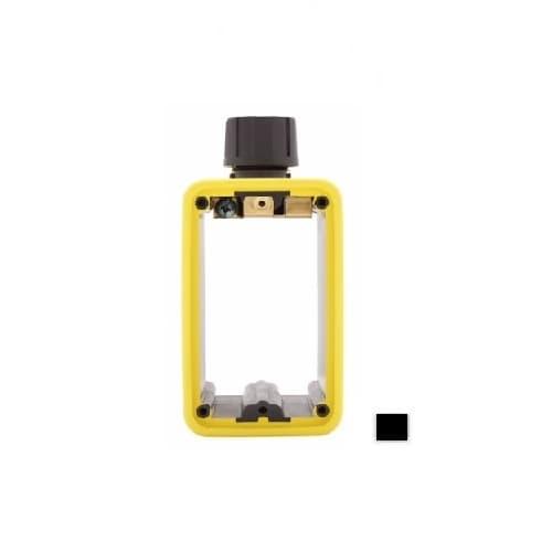 Portable Outlet Box & Duplex Receptacle Cover Plate Kit w/Flip Lid, Black