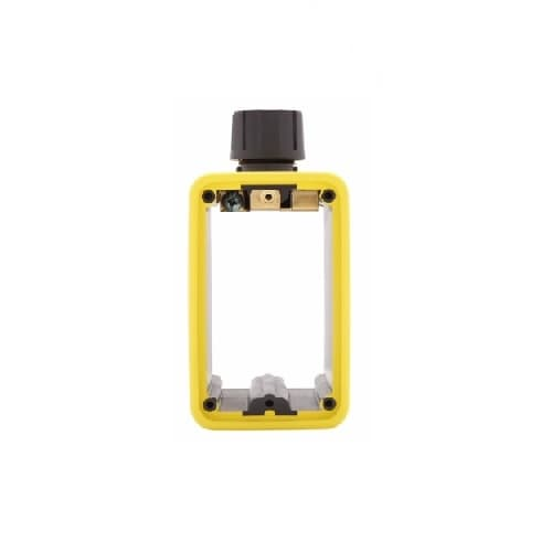 Portable Outlet Box & Duplex Receptacle Cover Plate Kit w/Flip Lid, Yellow