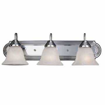 27W LED Vanity Light, Acid Etched Glass, 3-Light, 120V, 2700K, Br.Nickel