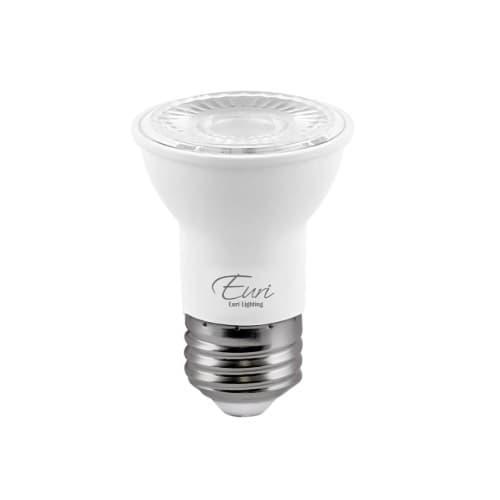 Euri Lighting 7W LED PAR16 Bulb, Dimmable, 40 Degree Beam, E26, 500 lm, 120V, 4000K
