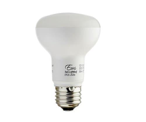Euri Lighting 3000K 7.5W 500lm R20-Class LED Flood Bulb - Energy Star Rated