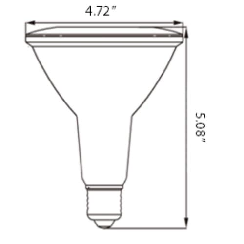Forest Lighting 14W Dimmable LED BR38 Bulb, 2700K
