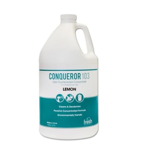 Fresh Conqueror 103 Lemon Scent Odor Counteractant Concentrate Cleaner