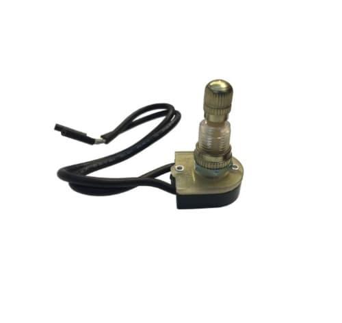 6/3 Amp Brass Rotary Switch