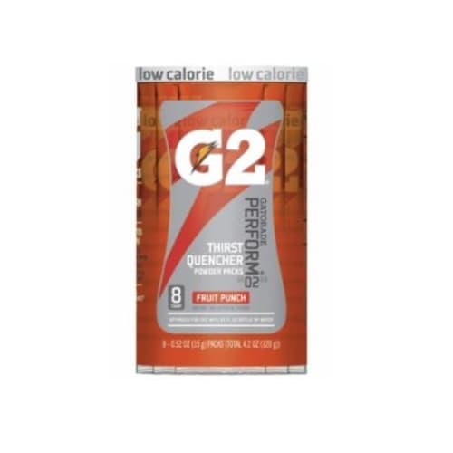 0.52 oz G2 Powder Packets, Fruit Punch